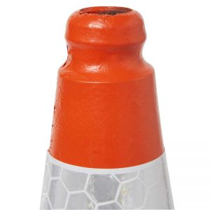 Orange/Red UK Road Traffic Cone