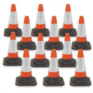 Red/Orange UK Road Traffic Cones