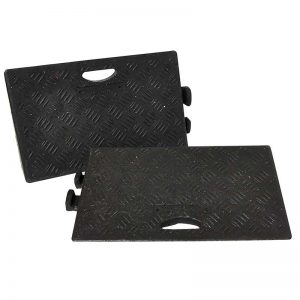 Black Kerb Ramp - Heavy Duty - Available in sizes 50mm to 150mm, and packs of 1 to 24