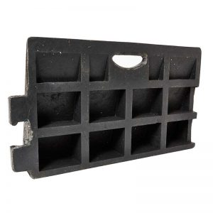 Black Kerb Ramp - Heavy Duty - Available in sizes 50mm to 150mm, photo of below ramp