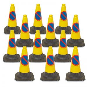 No Parking/Waiting Cone - 500mm - available in packs