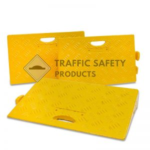 Pack of 50mm yellow kerb ramps