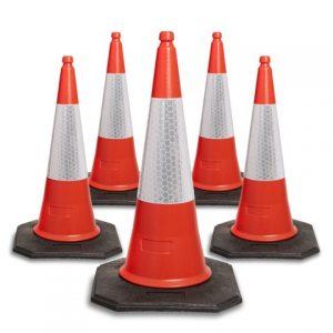 750mm red cones