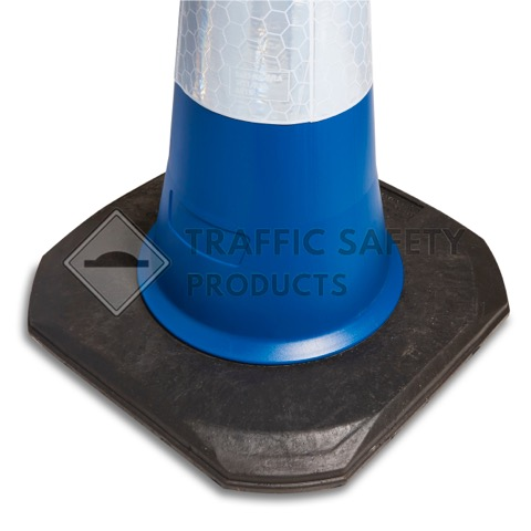 750mm and 1000mm Blue 2 Piece Road Traffic Cone Base