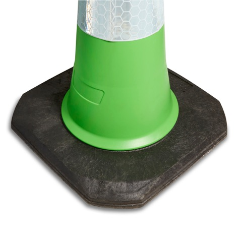750mm and 1000mm 2 Piece Green Traffic Cone Base