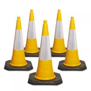 750mm and 1000mm 2 Piece Yellow Traffic Cones