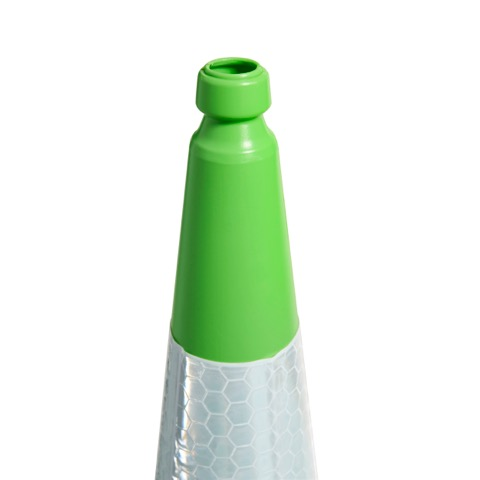 750mm and 1000mm 2 Piece Green Traffic Cone