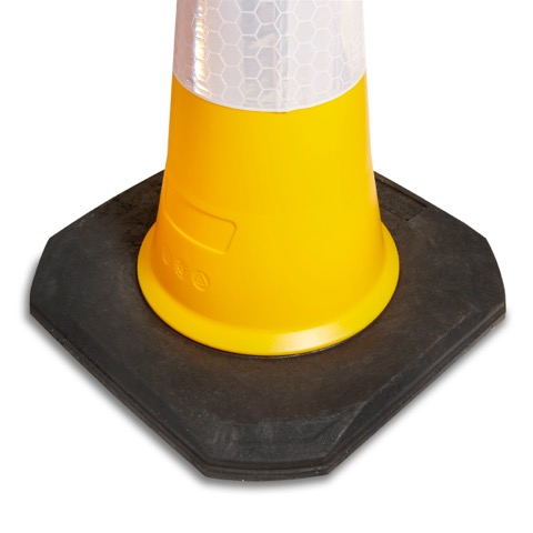 750mm and 1000mm 2 Piece Yellow Traffic Cone Base