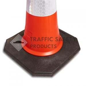 2 Piece Red Traffic Cone - base