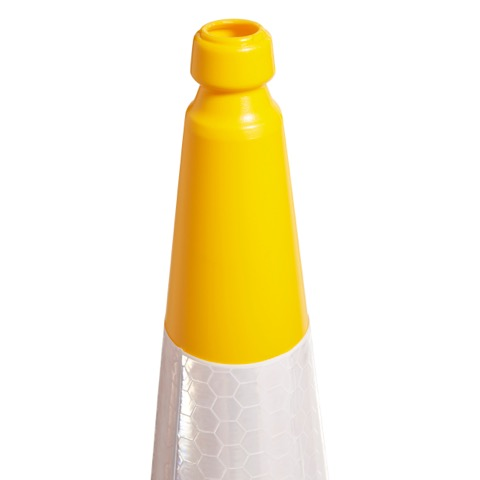750mm and 1000mm 2 Piece Yellow Traffic Cone