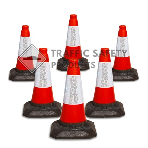 450mm Red Traffic Cone available in packs of 6 to 400
